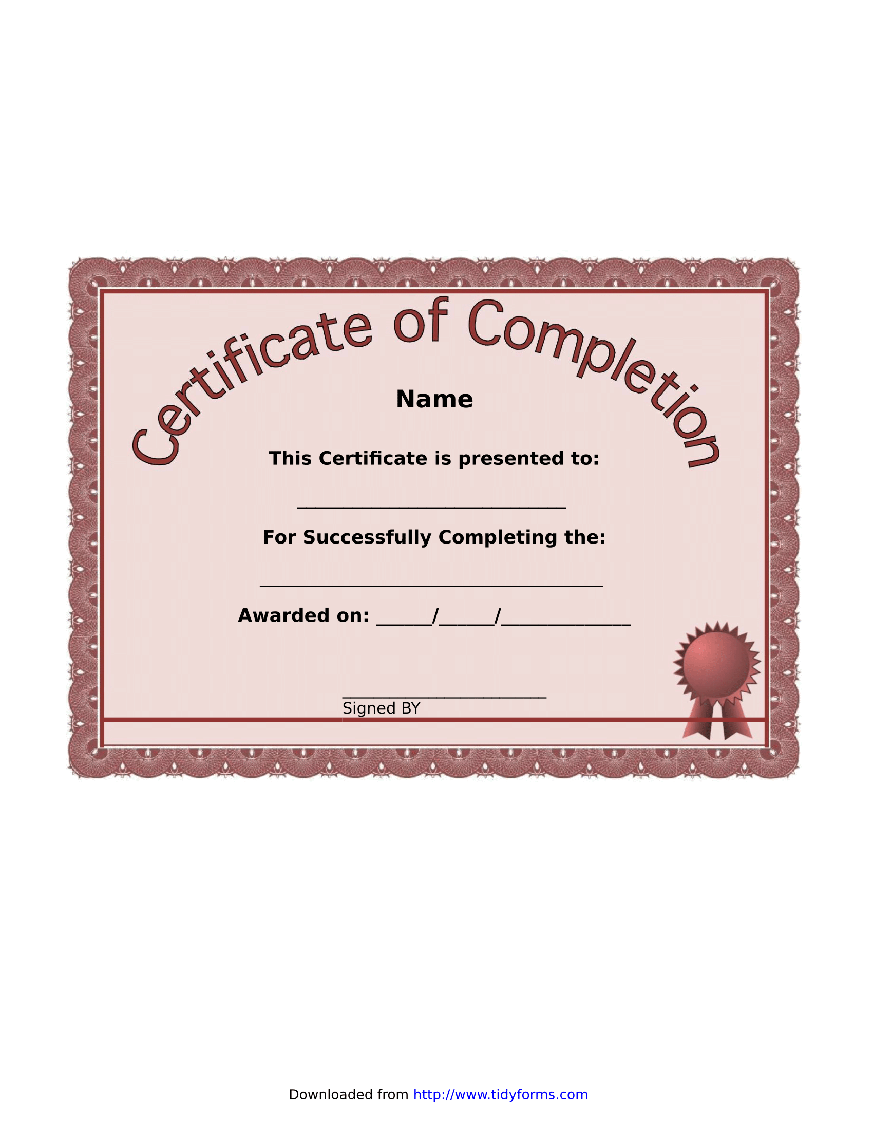 Certificate of Completion – FREE Download