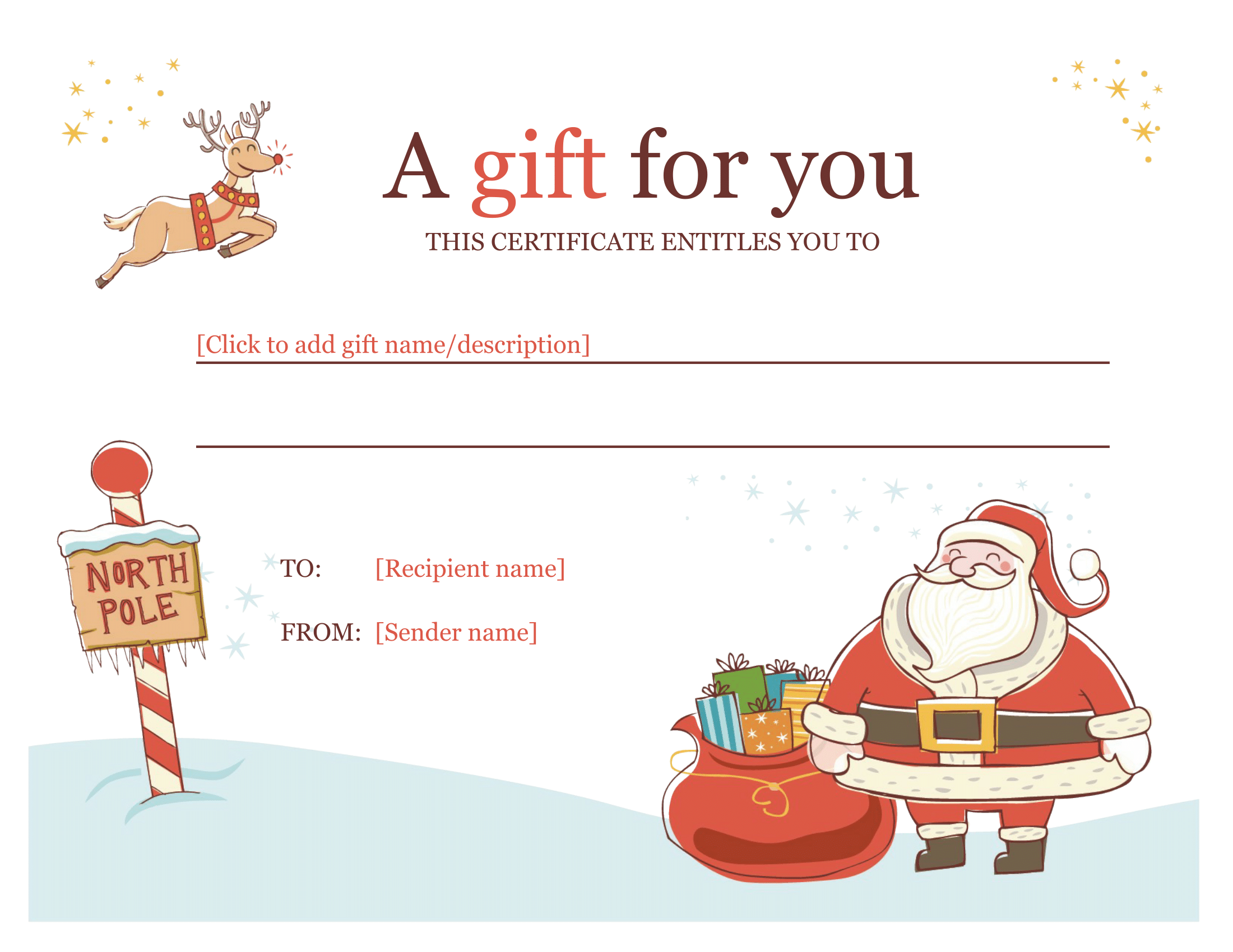 Christmas Gift Certificate – Download a FREE Personalized Template