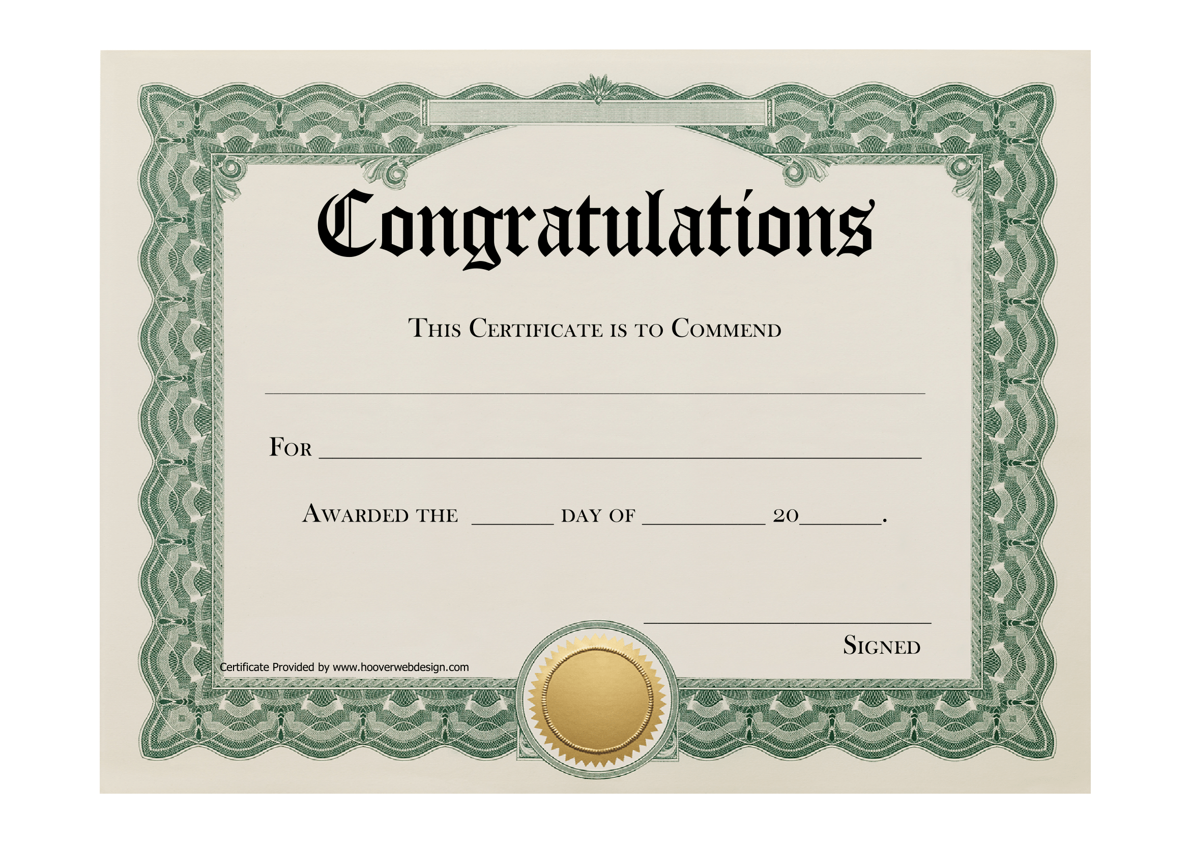 Congratulations Certificate Template – FREE Download