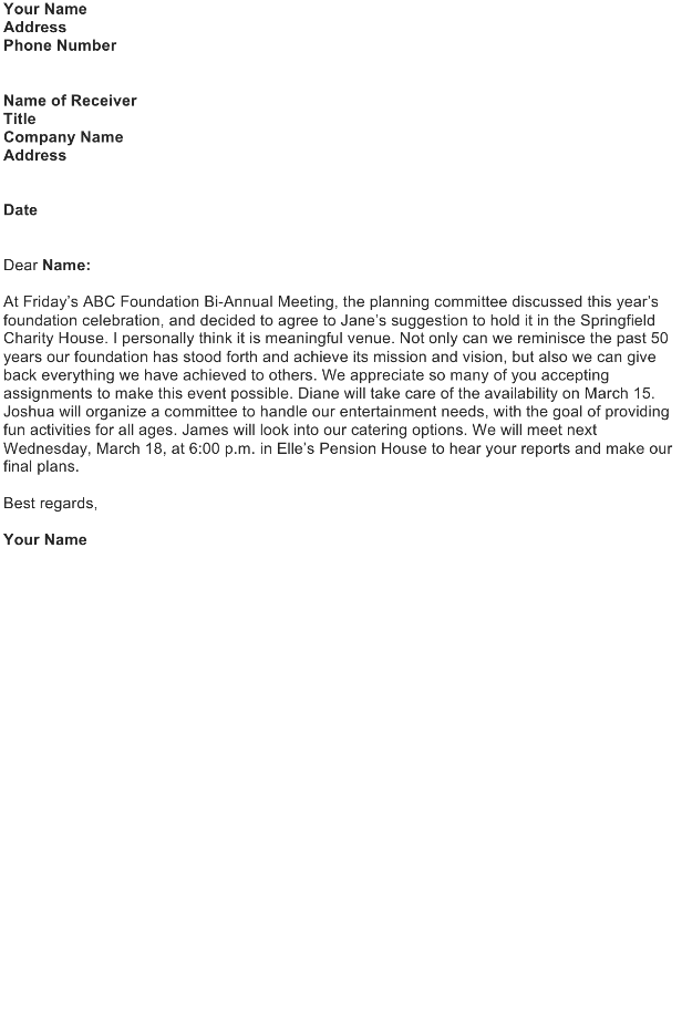 Follow up after a meeting to review decisions and assignments