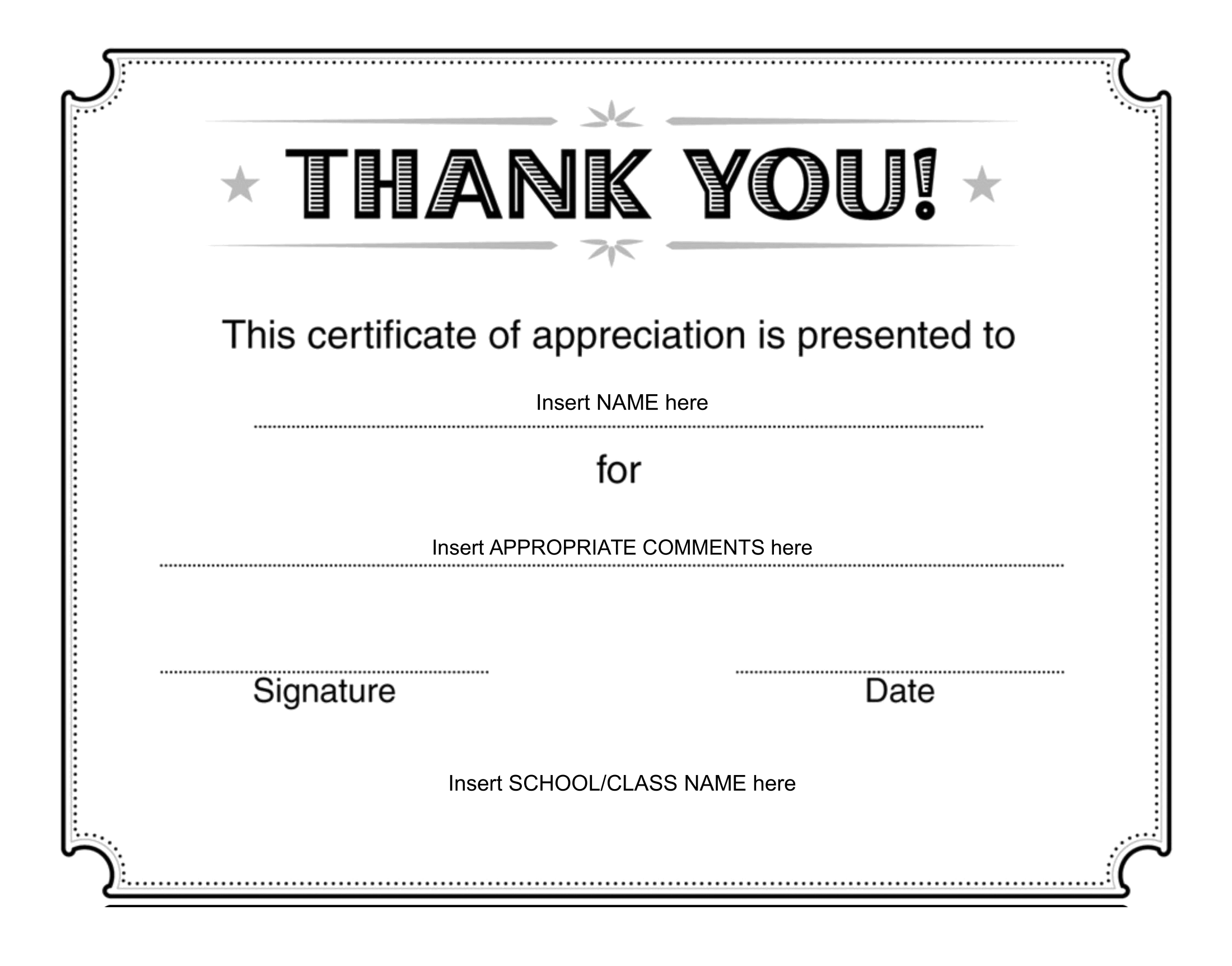 Thank You Certificate – Download FREE Template