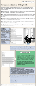 Infographic Writing Guide - Announcement Letter Template and Sample Business Letter