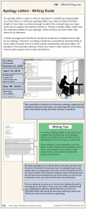 Infographic Writing Guide - Apology Letter Template and Sample Business Letter