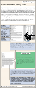Infographic Writing Guide - Cancellation Letter Template and Sample Business Letter