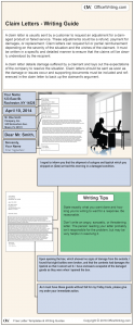 Infographic Writing Guide - Claim Letter Template and Sample Business Letter
