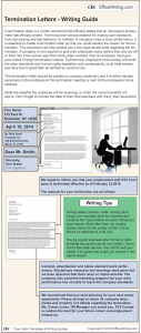 Infographic Writing Guide - Termination Letter Template and Sample Business Letter